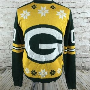 Green Bay Packers Ugly Sweater Size L Christmas
